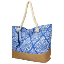 Veľká modrá plážová taška cez rameno B6802
