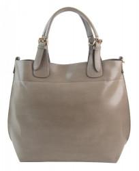 Veľká šedá dámska shopper kabelka 3435-MM