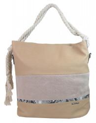 Veľká telovo hnedá dámska kabelka s lanovými uchami 4543-BB