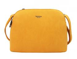 Žltá menšia crossbody dámska kabelka s dvoma sekciami 4845-TS