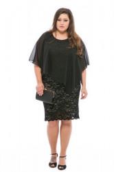 Almiréna čipkované šaty s mušelínom