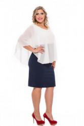 Erátó  pelerínové šaty s čipkou