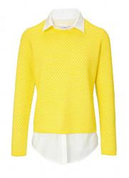 2-v-1 pulóver HEINE, žlto-biela