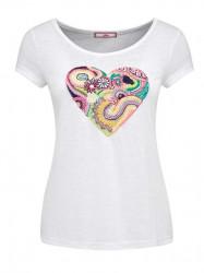 Úpletové tričko s farebným srdcom Joe Browns