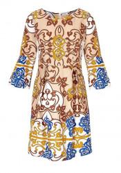 Ashley Brooke šaty s arabeskovou potlačou, viacfarebná