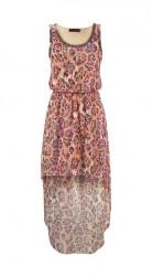 Asymetrické šifónové šaty Melrose, marhulové
