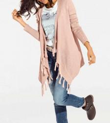 Asymetrický sveter, rožový