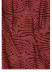 Atraktívne šaty s 3D vzorom, bordová #1