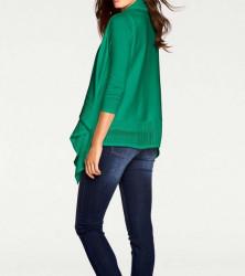 Atraktívny twinset, zelený #2