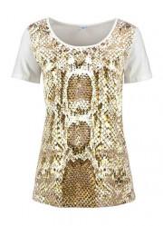 Béžové tričko so vzorom CORLEY collection