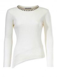 Biely pulóver s kamienkami
