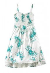 Billabong letné šaty, bielo-tyrkysová