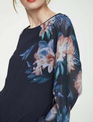 Blúzka s kvetinovou potlačou Heine, modrá