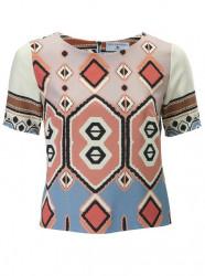 Blúzkové tričko s etno vzorom Rick Cardona, viacfarebné