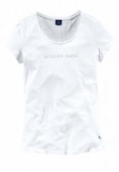 BOGNER tričko s kamienkami, biele