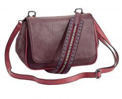 Bordová kabelka s pruhom v Etno vzore