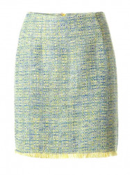 Buklé sukňa, svetlo modro-žltá