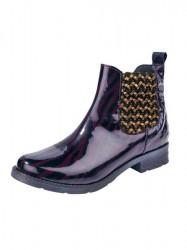 Bunker kožené topánky, fialovo-zlaté