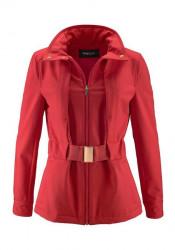 Červená softshellová bunda