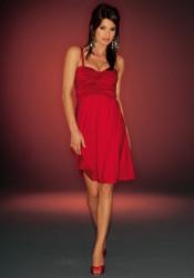 Červené kokteilové šaty Laura Scott