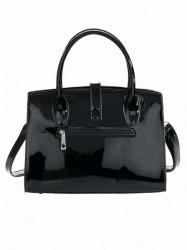 Čierna lakovaná kabelka #1