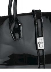 Čierna lakovaná kabelka #2