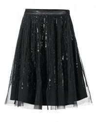 4c57485cb5eb Čierna tylová sukňa s flitrami Ashley Brooke