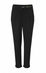 Čierne elegantné nohavice s pukmi