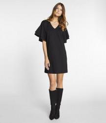 Čierne šaty s volánmi APART