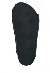 Čierne trblietavé šľapky s kožušinou #6