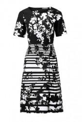 Čierno-biele púzrové šaty