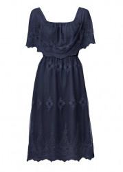 Čipkované šaty Ashley Brooke, modrá