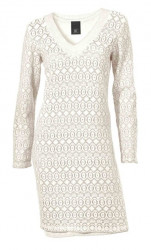 Čipkované smotanové šaty HEINE - B.C.
