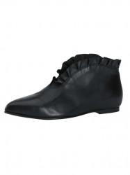 Členkové topánky HEINE s volánom, čierna