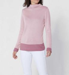 Création L Premium luxusný sveter, ružová
