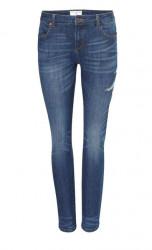 Dámske džínsy s výšivkou, modrá