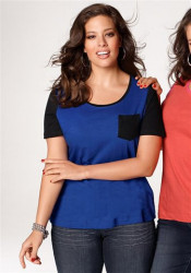 Dámske modré tričko Sheego