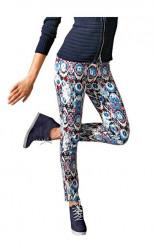Dámske vzorované nohavice Mandarin