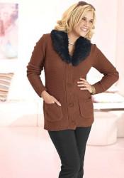 Dámsky sveter s kožušinkou