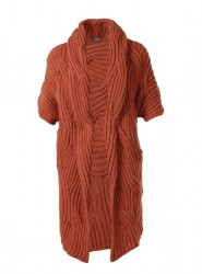 Dlhý vlnený sveter APART, terakota