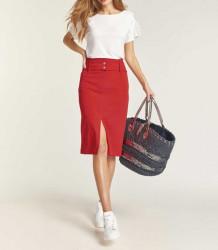 Džersej sukňa HEINE s opaskom, červená