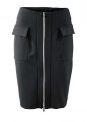 Džersejová sukňa Heine, čierna