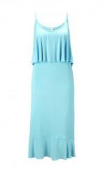 Džersejové letné šaty HEINE, tyrkysová