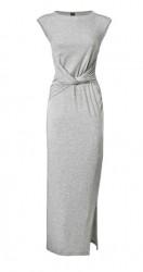 Džersejové sivé maxi šaty