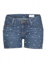 Džínsové šortky s perlami CROSS