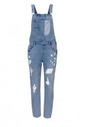 Džínsy na traky Aniston, modrá