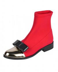 Elastické členkové topánky, červeno-zlatá