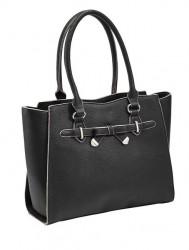 Elegantná čierna kabelka Collezione Alessandro
