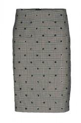 Elegantná sukňa s flitrami Patrizia Dini, čierno-biela