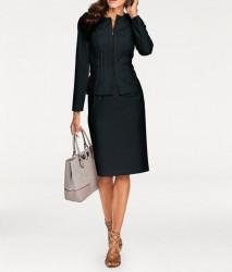 Elegantný čierny kostým
